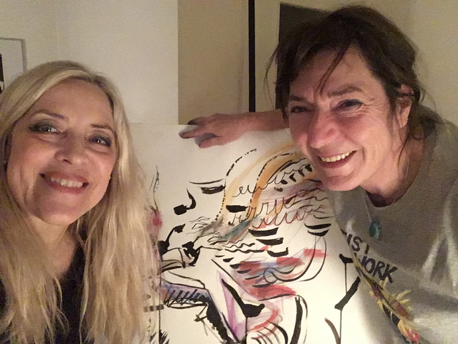 Sketch-Jazz-Session with great artist Nicole Schneider in February 2019